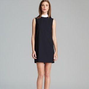 NWT Theory Audrice Dress Black White Size 8 $325